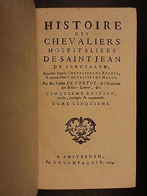 1764 History of Knights Templar Hospitaller of Saint John Crusades Malta Rhodes: Vertot, abbe de