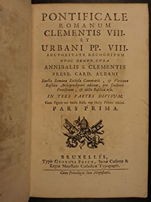 1735 1st ed Cardinal Annibale Albani Catholic Rites Liturgy Pontificale Romanum: Annibale Albani