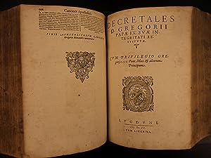 1605 Corpus Juris Canonici Catholic Church Canon LAW Pope Gregory Lancellotti: Johannes Paulus ...