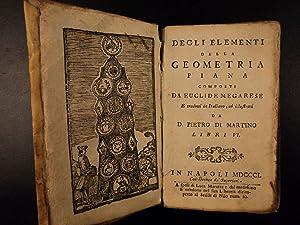 1801 Euclid Elements Mathematics Greek Arithmetic GEOMETRY: Euclid.; Pietro Di