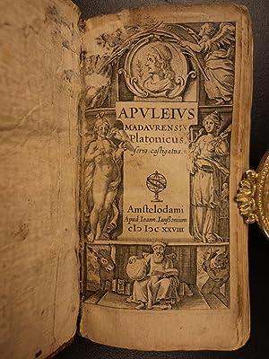 1628 Apuleius on Platonic Greek Philosophy PLATO Latin Neoplatonism Occult Magic: Apuleius