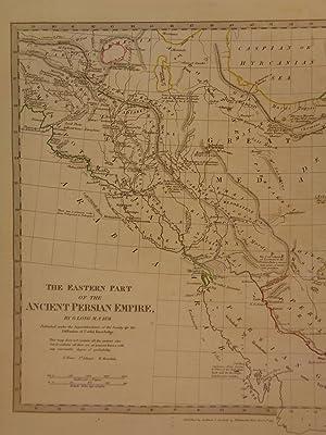 1844 BEAUTIFUL Huge Color MAP of Eastern Ancient Persia Arabia Assyria ATLAS: J & C Walker