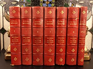 1900 History Franco-Prussian War Germany MAPS + ATLAS Illustrated 7v Leather SET: Leonce Rousset
