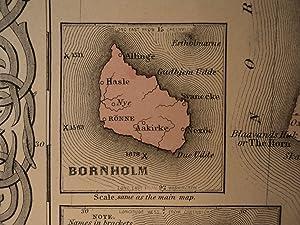 1855 1st COLTON Atlas Color Map DENMARK Baltics Iceland Jutland Holstein 14x17in