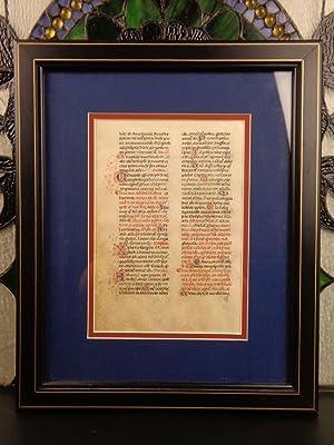 1400s Beautiful Illuminated Medieval MANUSCRIPT Catholic Church: manuscript