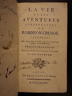 1784 Robinson Crusoe Daniel Defoe Voyages Illustrated: Daniel Defoe; Amable