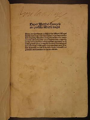 1505 1ed Albertus Magnus Bible & Commentary Gospel of Matthew Science & Religion: Albertus,...