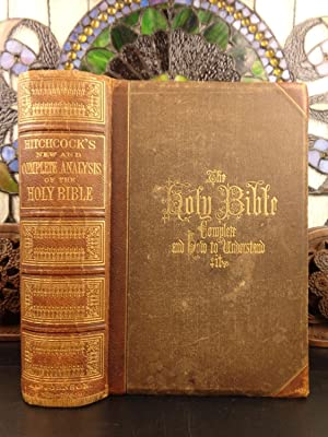 1871 Hitchcock's New Complete Holy Bible with: Roswell D Hitchcock