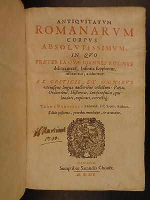 1659 Rosinus Antiquitatum Romanarum ROME Antiquities Caesars MAP Archaeology: Johannes Rosinus; ...