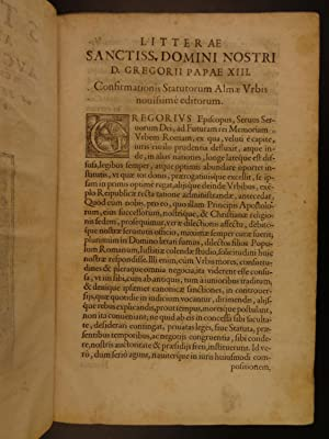 1580 1st ed Roman Catholic Church LAW Pope Gregory XIII Rome Papacy Mass FOLIO: Catholic Church, ...