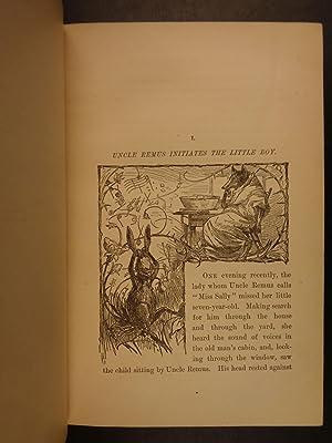 1881 TRUE 1ed 1st print Uncle Remus Harris Slavery Song of the South Brer Rabbit: HARRIS, Joel ...