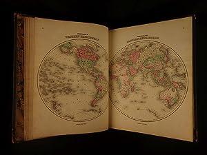 1863 Johnson Family ATLAS Geography Color MAPS Texas California America New York,: JOHNSON, Alvin ...
