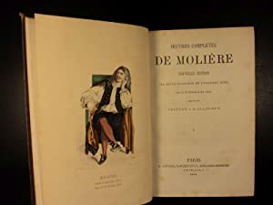 1872 EXQUISITE Moliere Complete Works Tartuffe Misanthrope Illustrated French 2v: MOLIERE