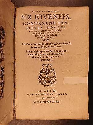 1582 1ed Torquemada Hexameron Demonology Exorcisms Poltergeists Occult Fairies: TORQUEMADA, Antonio...