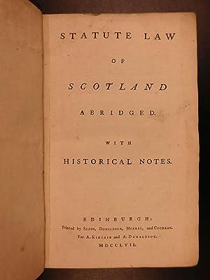 1757 1ed Statute LAW of Scotland Scottish Witchcraft Sorcery Adultery Fishing: Scotland [attrib ...