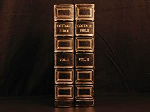 1864 EXQUISITE Cottage Holy BIBLE Illustrated English: WILLIAMS, Thomas