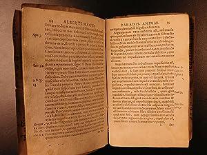 1578 Albertus Magnus Paradisus Animae Ethics Metaphysics in MEDIEVAL MANUSCRIPT: MAGNUS, Albertus