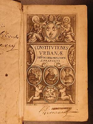 1676 Pope Urban VIII Constitution Catholic Church RULE Saint Francis Friars Minor: URBAN VIII, Pope