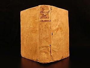 1651 1ed William Harvey Generation of Animals: HARVEY, William