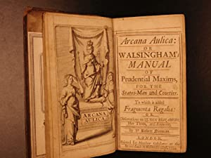 1694 Arcana Aulica Court & Courtier Walsingham English Politics Queen Elizabeth: REFUGE, ...