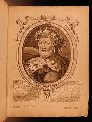 1722 EXQUISITE 65 Portraits Illustrated French Kings Louis XIV Nicolas Larmessin: LARMESSIN, Nicolas