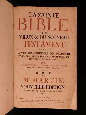 1760 HUGUENOT French BIBLE Protestant David Martin: Holy Bible