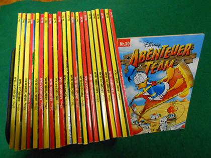 Disney Abenteuer Team. Serie 1 bis 30 (Es fehlen die Nr. 1; 4; 7; 8; 14; 21; 25). Vorhanden 23 Bändchen.
