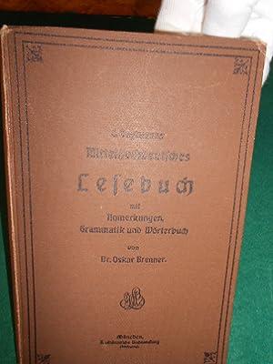 L. Englmanns >Mittelhochdeutsches Lesebuch< mit Anmerkungen, Grammatik, Verslehre und Wö...