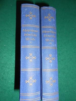 Parerga und Paralipomena<. 1. u. 2. Band. Kleine philosophische Schriften. IV. und V. Band, aus ...
