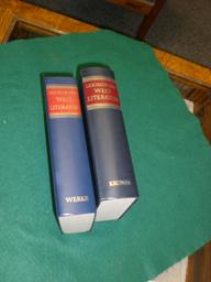Lexikon der Weltliteratur. (2 Bde.) Band 1: Biographisch- bibliographisches Handwörterbuch ...