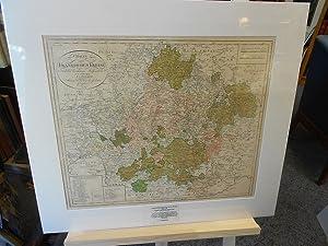 Charte vom Fränkischen Kreise<. Original Flächen und Grenz- kolorierte Kupferstich- ...