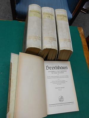 Brockhaus [1921] Handbuch des Wissens in vier Bänden<.: Brockhaus, Friedrich Arnold (Hrsg.)...