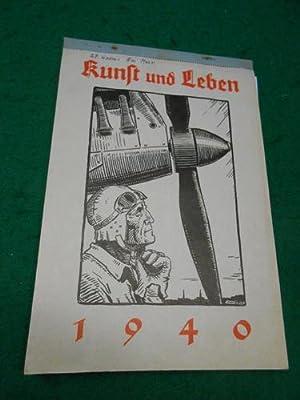 Kunst und Leben<. 32. Jahrgang 1940. Ein Kalender mit Original- Zeichnungen und Original -...