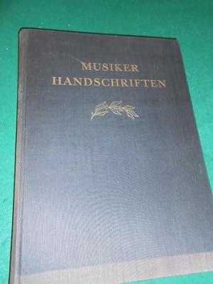 Musiker-Handschriften von Bach bis Schumann. 96 Wiedergaben von Handschriften. aus der ...