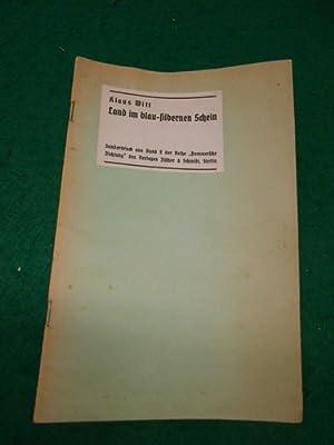 Land im blau- silbernen Schein. Sonderdruck aus Band 2 der Reihe >Pommersche Dichtung<.: Witt...