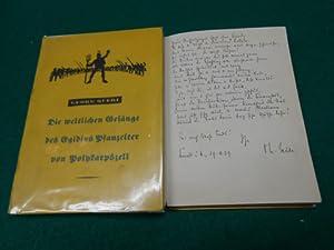 Die weltlichen Gesänge des Egidius Pflanzelter von Polykarpszell<. Bayrische Geschichten; ...