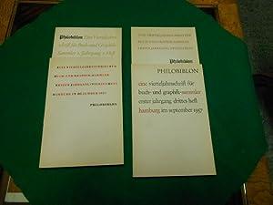 Philobiblon<. 1. Jahrgang. 1. bis 4. Heft, (komplett). Eine Vierteljahrsschrift für Buch- ...