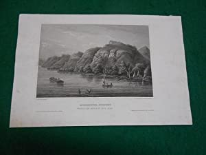 Mississippi-Scenery. Between lake Pepin & St. Croix River. Original- Stahlstich um 1850. Drawn af...
