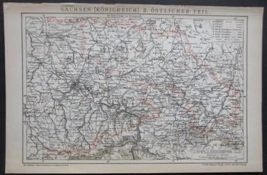 Sachsen [Königreich]. II. Östlicher Teil. Aus Brockhaus