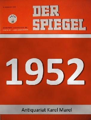 Der Spiegel. 27.08.1952. 6. Jahrgang. Nr. 35. Das deutsche Nachrichtenmagazin. Titelgeschichte : Mit Fremden Federn. Jagd auf Menschen und Gespenster: Robert Neumann.