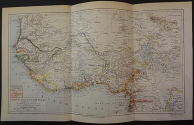 Ober-Guinea und West-Sudan. 1890. Farbkolorierte Karte (Maßstab