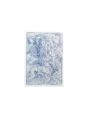 Probedruck blaues Ex Libris - Träume.: VÁCHAL, JOSEF: