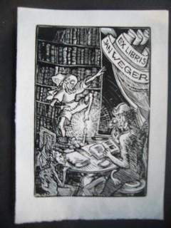 Ex Libris für Jan Weger. Gezeichnet von: VÁCHAL, JOSEF: