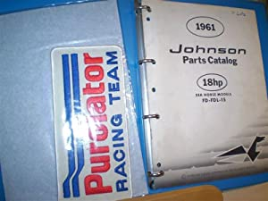 Johnson Parts Catalog. 18hp Sea Horse Models.: Johnson Motors.