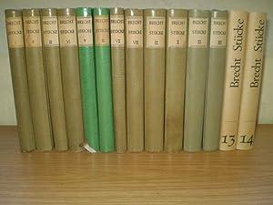 STÜCKE. 14 Bände. 1955 - 1967. Bd.: Brecht, Bertolt.