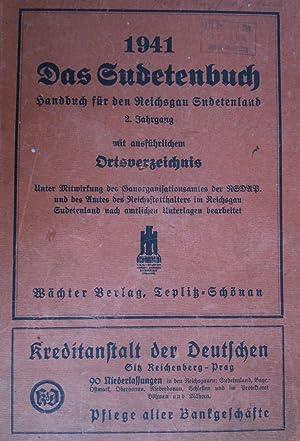 1941 Das Sudetenbuch. Handbuch für den Reichsgau Sudetenland. 2. Jahrgang mit ausfü...