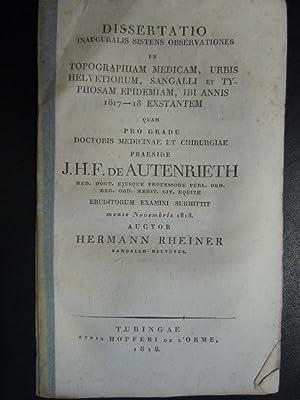 Observationes in topographiam medicam, urbis helvetiorum, Sangalli: Rheiner, Hermann (aus
