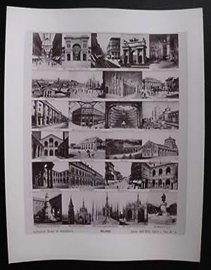 Fotografie: Collezione Brogi in miniatura. Seria dell' Alta Italia – Tav. No. 4: Milano.