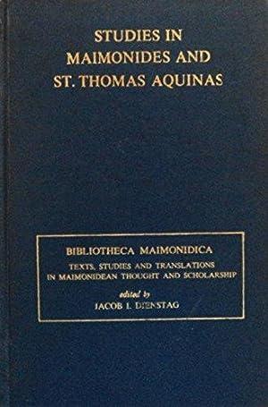 Studies in Maimonides and St. Thomas Aquinas (Bibliotheca Maimonidica): Dienstag, Jacob Israel