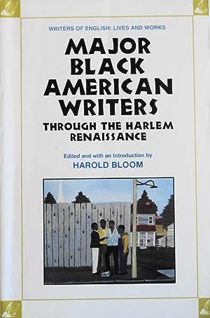 Major Black American Writers Through the Harlem: Bloom, Harold